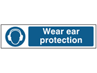 Wear ear protection, mini safety sign.