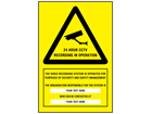 24 hour CCTV recording signs with custom text