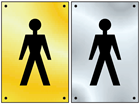 Gentleman symbol door sign.
