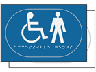 Gentlemen/Disabled toilet sign.