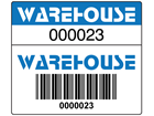 Scanmark dual barcode label (full design), 26mm x 30mm