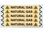 Natural gas flow marker label.