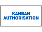 Kanban authorisation sign