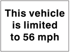 Vehicle speed limit sign