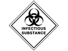 Infectious substance hazard warning diamond sign