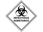 Infectious substance hazard warning diamond sign