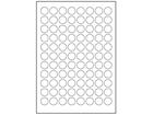 Paper laser and inkjet labels, 20mm diameter.