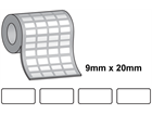 Tamper evident labels, 9mm x 20mm