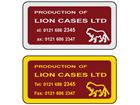 Metallic finish label, 38mm x 75mm