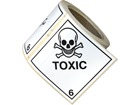 Toxic, class 6, hazard diamond label