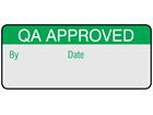 QA approved aluminium foil labels.