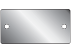 Blank stainless steel nameplate, 38mm x 77mm