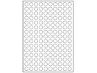 White polyester laser labels, 15mm diameter