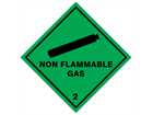 Non flammable gas 2 hazard warning diamond sign