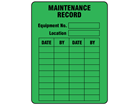 Maintenance record label