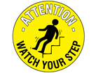 Attention watch your step floor marker