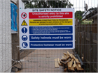 Building site safety notice sign