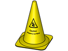 Caution slippery surface cone, 495mm high
