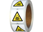 Warning toxic symbol label.