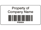 Scanmark barcode label (black text), 19mm x 38mm