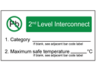 Lead (Pb) free contents, second level interconnect label