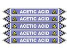 Acetic acid flow marker label.
