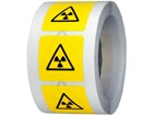 Radioactive symbol labels.