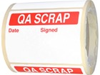 Jumbo QA Scrap Label - 250 pack