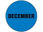 December inventory date label