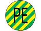 Protective conductor symbol label.