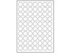 Paper laser and inkjet labels, 24mm diameter.