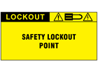 Safety lockout point label