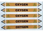 Oxygen flow marker label.