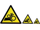 Entanglement warning symbol label.