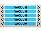 Vacuum flow marker label.