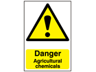 Danger, Agricultural chemicals safety sign.