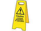 A-board, caution lockout procedure in operation