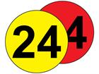 Aisle floor markers, 24