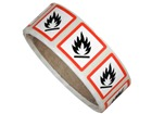 GHS flammable hazard label