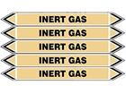 Inert gas flow marker label.