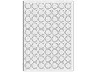 Silver tamper evident (checkerboard) polyester laser labels, 24mm diameter