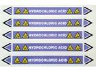 Hydrochloric acid flow marker label.