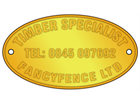 Custom stamped brass nameplates, 31mm x 57mm (oval).