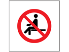 No sitting symbol safety sign.