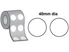 Thermal transfer labels, self adhesive paper labels, 40mm diameter.