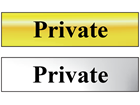 Private metal doorplate