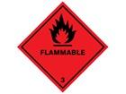 Flammable 3 hazard warning diamond sign