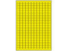Yellow polyester laser labels, 10mm x 15mm