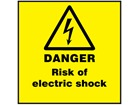 Danger risk of electric shock label