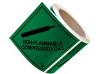 Non flammable compressed gas, class 2, hazard diamond label